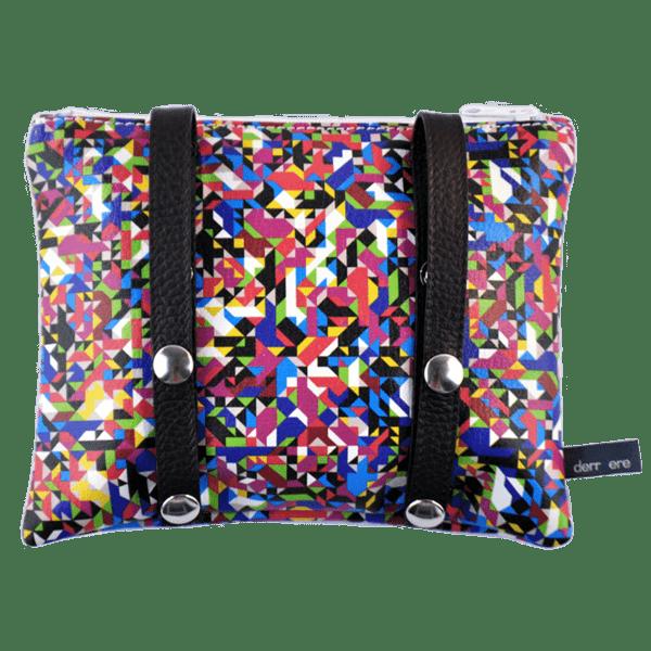 belt-bag-leather strings-multicolor-pixel-tv-back-detail