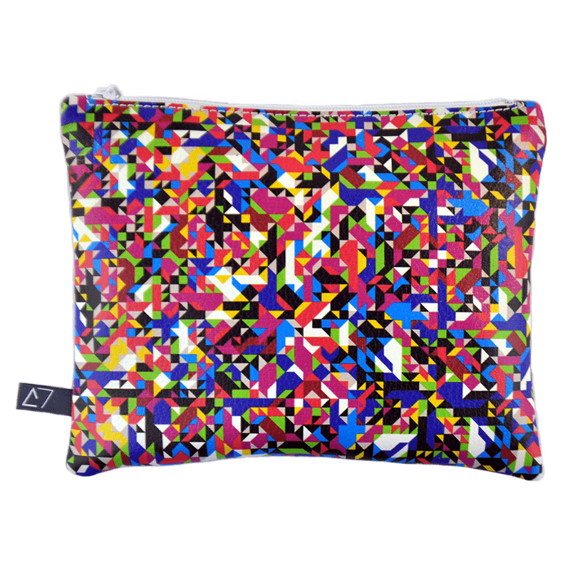 Belt-bag-pochette-multicolor-pixel-tv-front