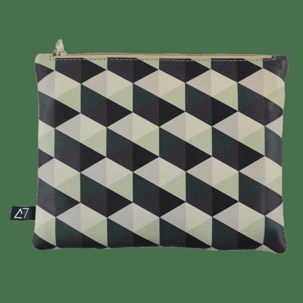 Belt-bag-pochette-rhombus-green