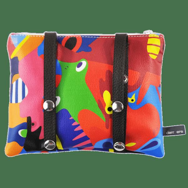 back-belt-bag-leather strings-multicolor-graffiti