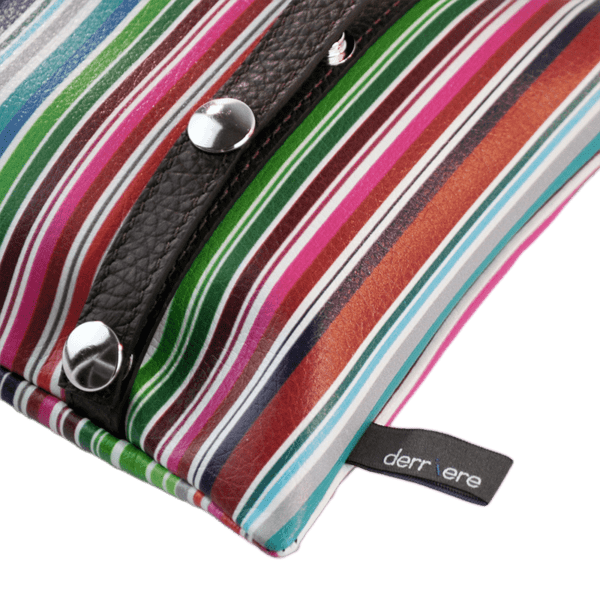 leather string-belt-bag-multicolor-vertical-stripes-detail