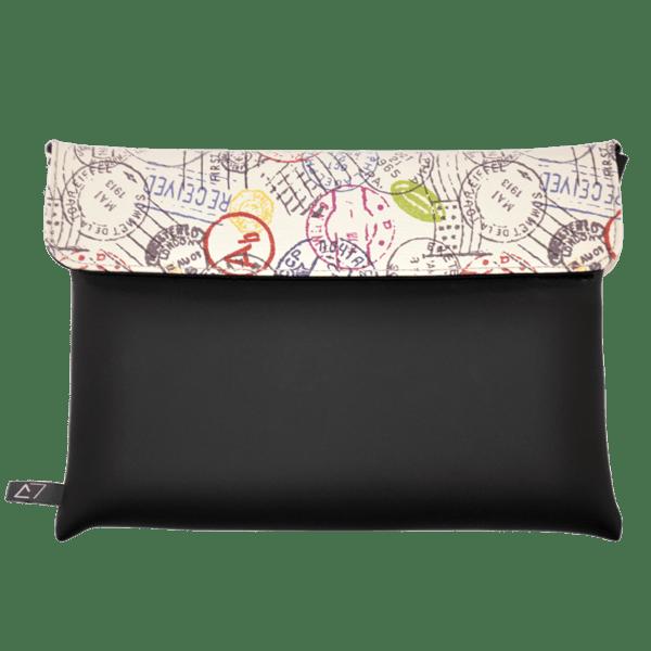 clutch-bag-ipad-case-9.7-neoprene-graphic-worldwide-postmark-front