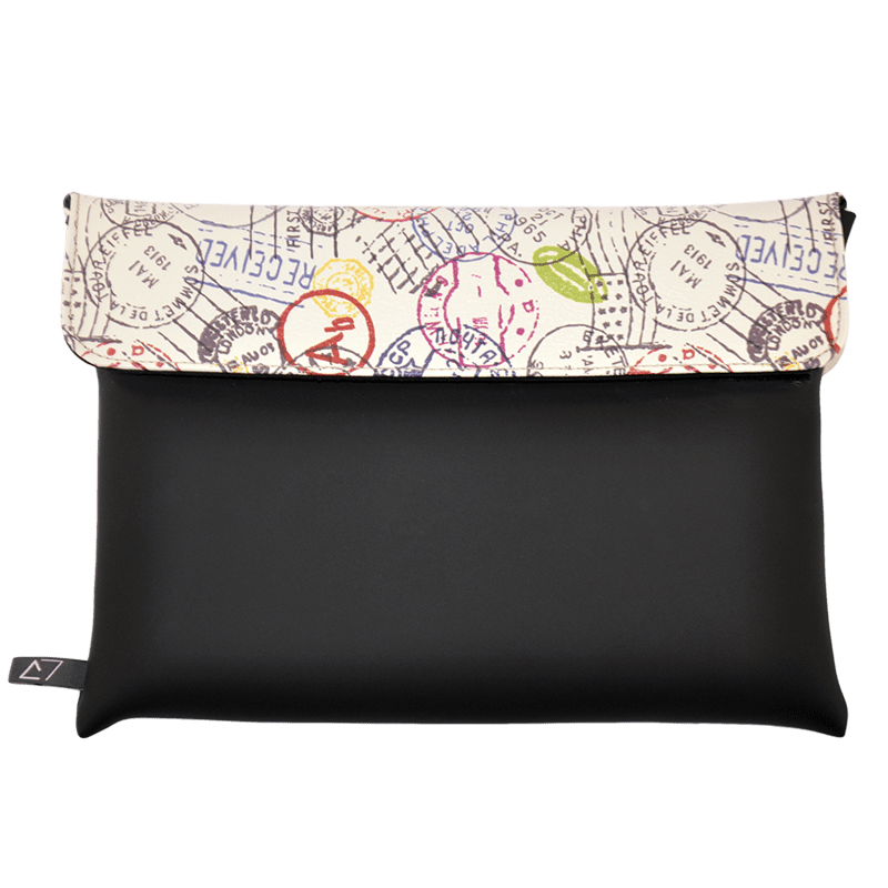 clutch-bag-ipad-case-9.7-neoprene-graphic-worldwide-postmark-front