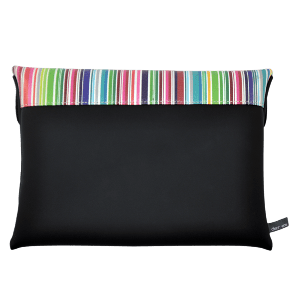 clutch-bag-ipad-case-9.7-neoprene-graphic-colorful-stripes-back
