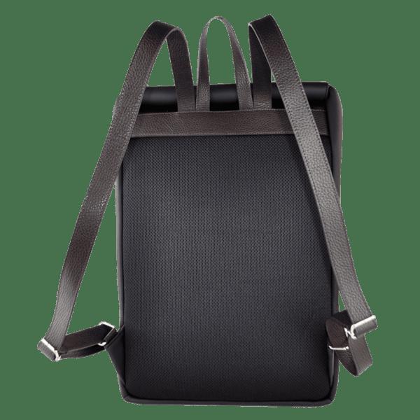 """15.6""""-laptop-backpack-neoprene-black-minimal-style-back"""