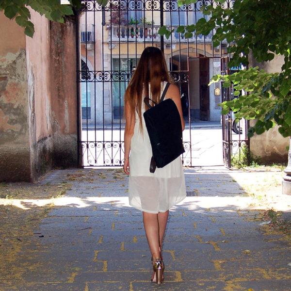 "15.6"" Laptop Backpack-woman-fashion-black"