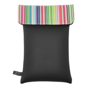 shoulder-bag-neoprene-graphic-multicolor-stripes-front