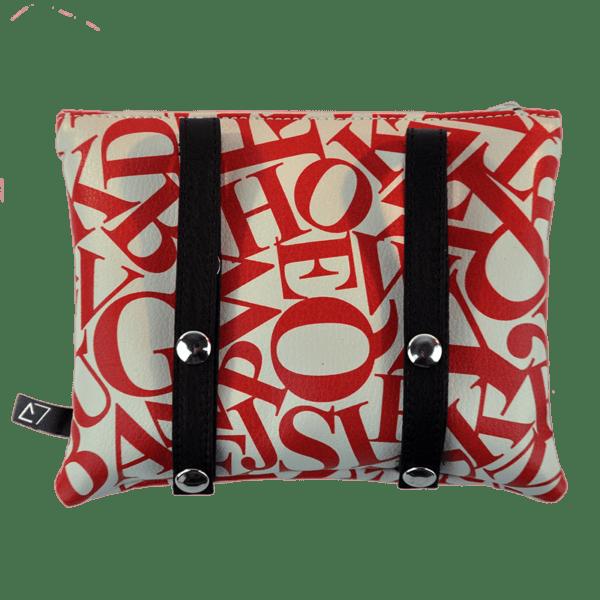 back-belt-bag-leather strings-letters-red
