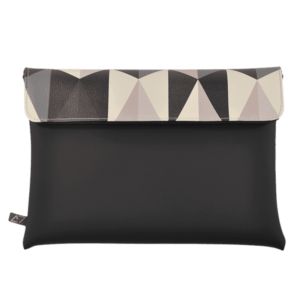 clutch-bag-ipad-case-9.7-neoprene-graphic-triangle-pattern-front