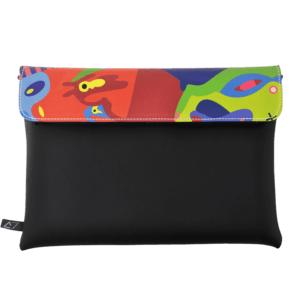 clutch-bag-ipad-case-9.7-neoprene-graphic-mutlicolor-graffiti-pattern-front