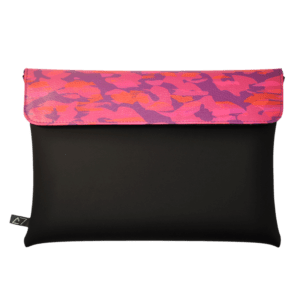 clutch-bag-ipad-case-9.7-neoprene-graphic-animalier-pink-front