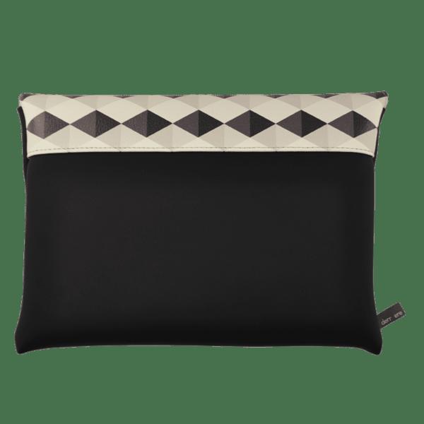clutch-bag-ipad-case-9.7-neoprene-graphic-rhombus-grey-back